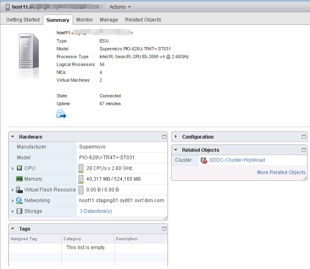 ESXi host specification-host11
